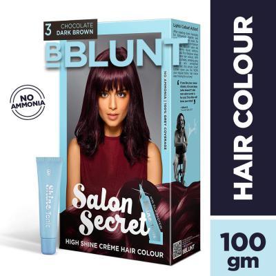 BBLUNT Salon Secret High Shine Creme Hair Colour, Wine Deep Burgundy 4.20, 100g with Shine Tonic, 8ml