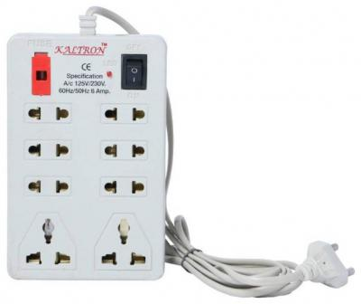 kaltron 8 Socket Extension Board 1 Pc 2.5 mtr ( White )