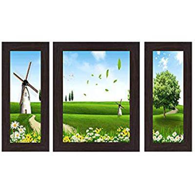 Wens 'Windmill Landscape.' Wall Art (MDF, 30 cm x 34 cm x 1.5 cm)