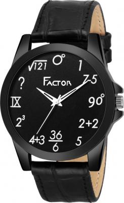 Factor FR-G557-BKBK-GEEK Premium Black University Collection Analog Watch  - For Men