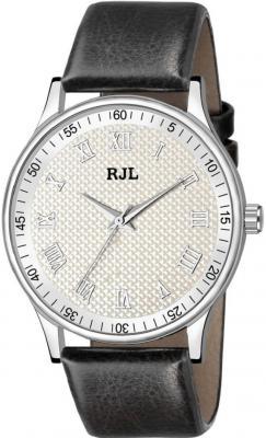 RJL Men& Precious looked Leather wrist Analog Watch