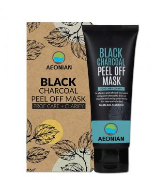 AEONIAN Charcoal Peel Off Face Mask, 60 ml - Deep Cleansing Facial Mask for Face & Nose