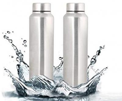 Stainless Steel Water Bottle, 1 Litre (pack of 2)