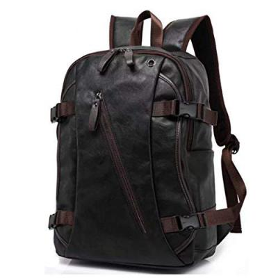 Fur Jaden 20 Ltrs Black Faux Leather Water Resistant Anti Theft Laptop Backpack