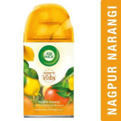 Airwick Freshmatic 'Scents of India' Air-freshner Refill, Nagpur Narangi - 250 ml