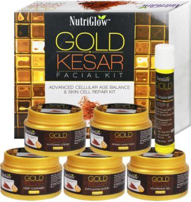 NutriGlow Gold Keshar Facial Kit Instant Radian Shine &Youthful Glow 250 g