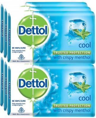 Dettol Bathing Bar Soap, Cool  (750 g, Pack of 6)