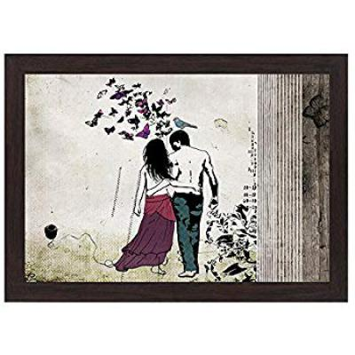 Wens 'Special Love Moment' Wall Art Painting (MDF, 35.5 cm x 50.8 cm)