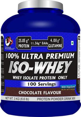 Advance MuscleMass 100% ultrapremium Isowhey Supplement Chocolate 3kg 6.6Lb 100 Serving with Digezyme Whey Protein  (3 k