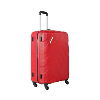 Safari Harbour 77 Cms Polycarbonate Red Check-In TSA Lock 4 wheels Hard Suitcase