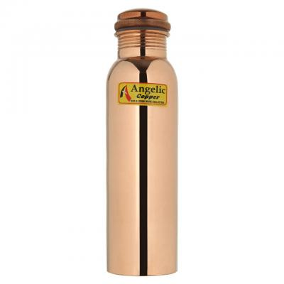 Angelic Copper Bottle with Lacquer Coating, 1 Liter, Copper