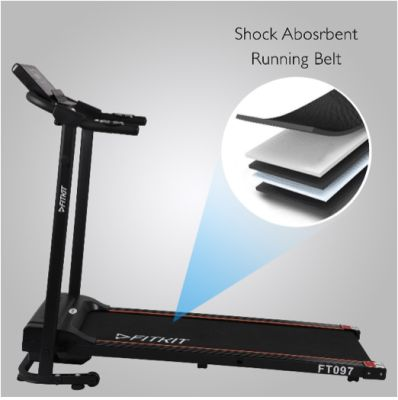FITKIT FT097 Steel 1 HP Motorized black (Free Installation) Treadmill - Buy FITKIT FT097 Steel 1 HP Motorized black (Fre