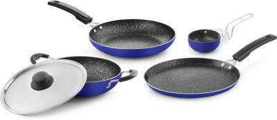 Urban Chef Sparkle Finish Heavy 5 Pcs Cookware Set Price in India - Urban Chef Sparkle Finish Heavy 5 Pcs Cookware Set