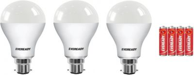 Eveready 10W LED Bulb Pack of 3 with Free 4 Batteries Price in India - Buy Eveready 10W LED Bulb Pack of 3 with Free 4 B