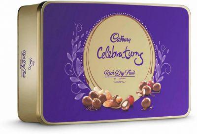 Cadbury Celebrations Rich Dry Fruit Chocolate Gift Box, 177g (Pack of 2) Bars