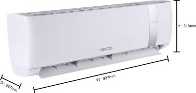 Onida 1.5 Ton 3 Star Split Inverter AC with Wi-fi Connect  - White, Silver