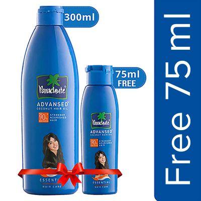 Parachute Advansed Coconut Hair Oil, 300ml (Free 75ml)