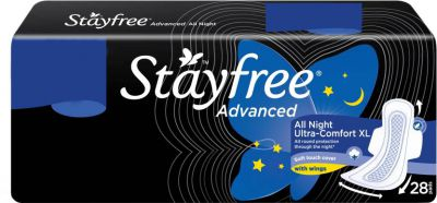 Stayfree Advanced All Night XL Wings Sanitary Pad