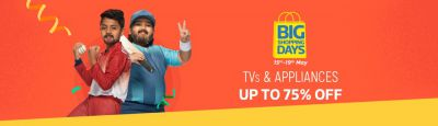 Big Shopping Day Sale on TV | Large Appliances on Flipkart