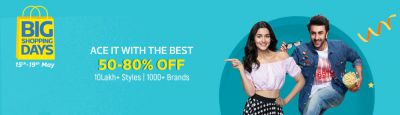 Flipkart Fashion Big Shopping Days Sale Offers