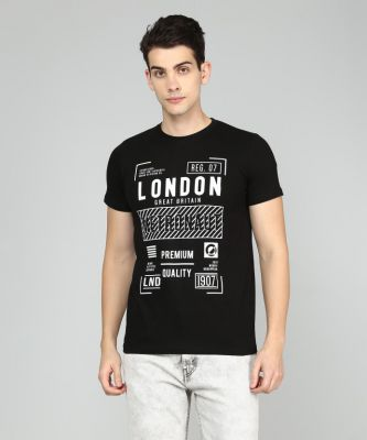 Metronaut Printed Men Round T Shirt  @75% Off
