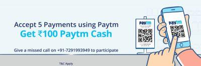 Paytm for Merchant: Rs.100 On 5 Offer