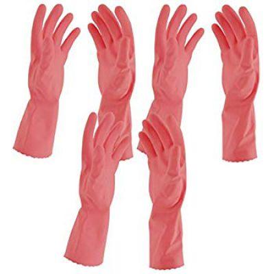 Primeway Flocklined Hand Gloves, Medium (Pink, Pack of 3)