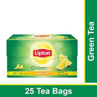 Lipton Lemon Zest Green Tea Bags, 25 Pieces