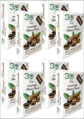 3P Kashmiri Brown Walnut Kernels Without Shell- 2 kg (250 gm X 8 packs)