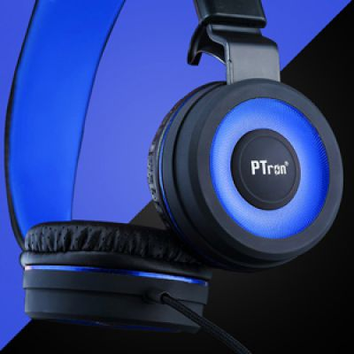 PTron Mamba Headphone Stereo Wired Earphone On-Ear