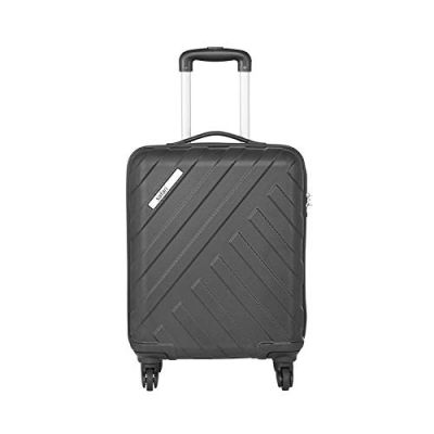 Safari Harbour 55 Cms Polycarbonate Black Cabin TSA Lock 4 wheels Hard Suitcase