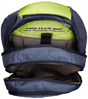 Gear 32 Ltrs Navy Blue and Lime Green Casual Backpack