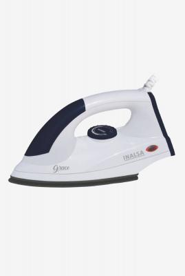 Inalsa Electric Iron Grace 1200W Dry Iron (White/Blue)