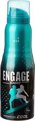 Engage Sport Cool Deodorant Spray For Men, 150ml / 165ml