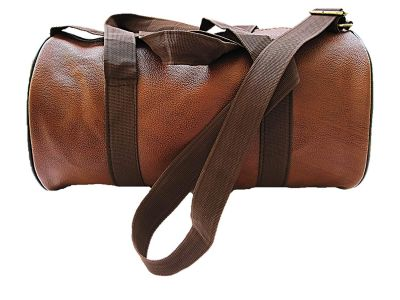 muccasacra Faux Leather Weekender Duffel Gym Bag with 3 Compartments (Scrubbed Dark Brown)