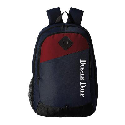 Dussle Dorf Polyester 20 Ltrs Navy Blue and Red Casual Backpack