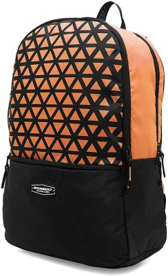 BOOMBOLT Unisex Polyester 22 L Orange Casual Water Resistant Backpack