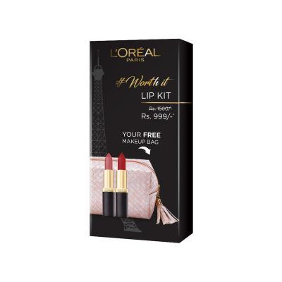 L'Oreal Paris Lip Kit (Pure Rouge Matte Lipstick And Beige Couture Matte Lipstick)
