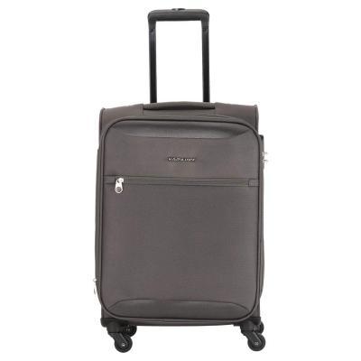 Kamiliant by American Tourister Zaka Polyester 56 cms Grey Softsided Cabin Luggage (KAM ZAKA SP 56 cm - Grey)