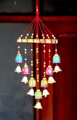 Craft Junction Handcrafted Rajasthani Bells Design Wall Hanging Decorative Showpiece