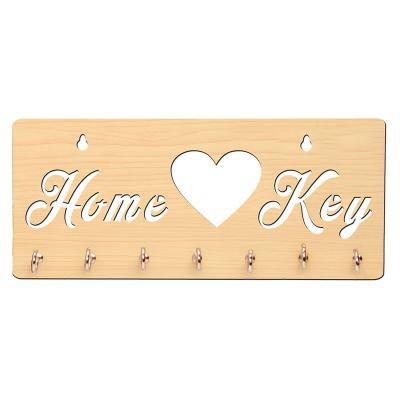 Sehaz Artworks Home Key 7-Hook Wood Key Holder