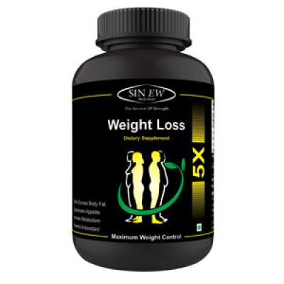 Sinew Nutrition Weight Loss Supplement with Garcinia Cambogia & Green Tea Extract (90 Capsules)
