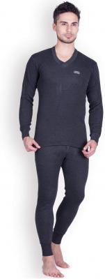Lux Cottswool Men's Cotton Thermal Set (COTT_Black_FS_Vneck_TRO_Set_L-90): Amazon.in: Clothing & Accessories