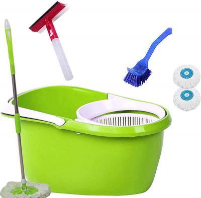 V-Mop Plastic Mop Bucket With Steel Rod, Heads