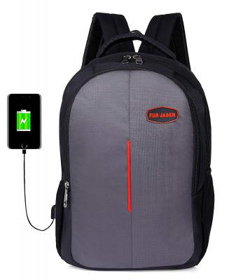 FUR JADEN USB Charging School and College 25 Ltrs Grey Casual Backpack