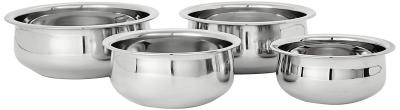 Amazon Brand - Solimo Stainless Steel Handi Set (4 pieces)