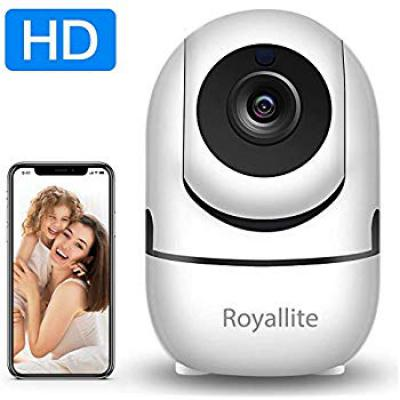 Royallite Wireless Security WiFi Camera, Camera for Home Security with Two Way Audio Motion Detection Night Vision