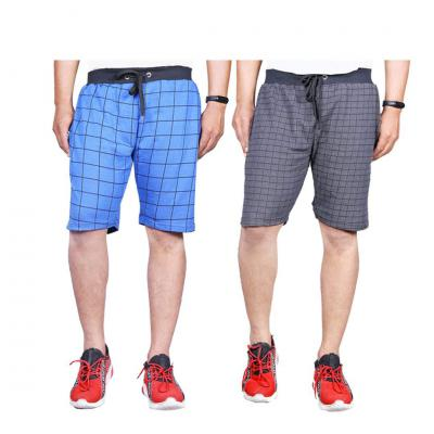 Ezee Sleeves Checked Shorts Pack of 2...