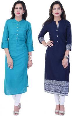 Style N Shades Women Solid Straight Kurta