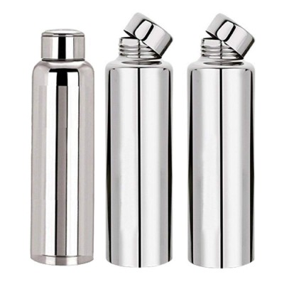 Kuber Industries Stainless Steel Fridge Water Bottle/Refrigerator Bottle/Thunder (1000 ML)-Kitchenware Set of 3 Pcs (Cod